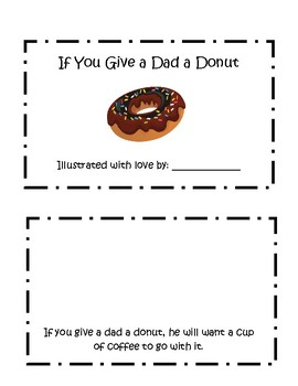 Father's Day Gift Ideas; If You Give a Dad a Donut Activity