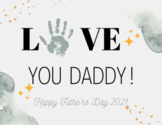 Father's Day Gift - Preschool or Daycare Handprint Craft - Father's Day Craft
