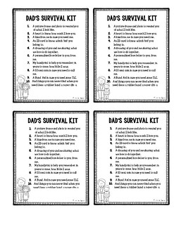 Father's Day Gift - Survival Kit