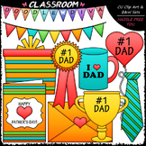 Father's Day Gifts Clip Art - Father's Day Clip Art & B&W Set