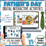 Father's Day Google Classroom Digital   Father's Day Distance Learning