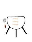 Father's Day Editable Grill Card - Kids add handprint for flames with paint.