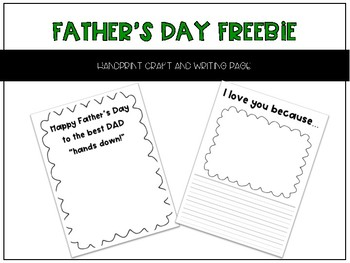 Father's Day Handprint Activity