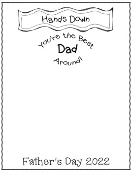 Father's Day Handprint Craft- Hand's Down Best Dad Around- FREEBIE!