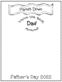 Father's Day Handprint Craft- Hand's Down Best Dad Around- FREEBIE!