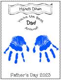 Father's Day Handprint Craft- Hand's Down Best Dad Around-