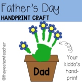 Father's Day Handprint Craft Template