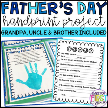 Father's Day Handprint Project: Grandpa, Uncle, Brother Included