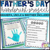 Father's Day Handprint Card: Grandpa, Uncle, Brother Included