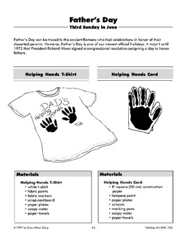 Father's Day Helping Hands Printed T-Shirt and Helping Hands Card