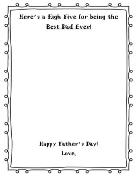 Father's Day High Five Template