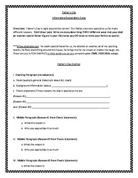 Fathers Day Informative Essay Outlineprompt Pdf Copy By Miss Mb Fathers Day Informative Essay Outlineprompt Pdf Copy Compare And Contrast Essay Topics For High School also Science Writers  Business Ethics Essay Topics
