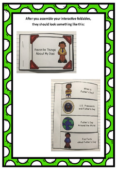 Father's Day Interactive Foldable Booklets