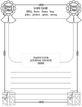 Father's Day Journal Prompt