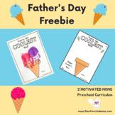 Father's Day Keepsake, Craft, Preschool, Kindergarten, Handprint, Holiday