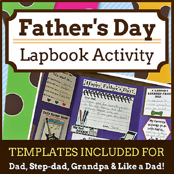 Father\'s Day Lapbook (Templates for Dad, Step-Dad, Grandpa & Like a Dad)