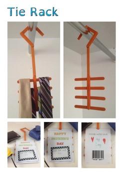 Father's Day Lollipop tie rack craft activity