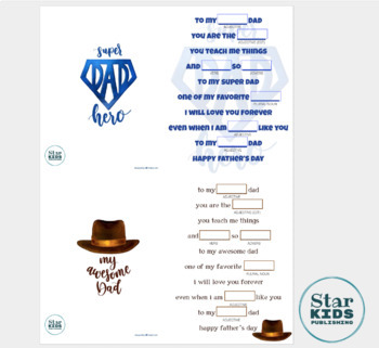 Father's Day Mad Lib Collection **google slides & interactive pdf**