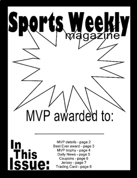 Father's Day Gift from kids! SPORTS:Dad is my MVP! Printable Magazine