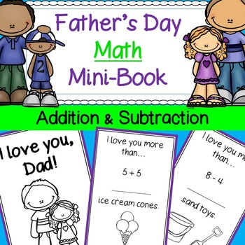 Father's Day Math Mini-Book Card