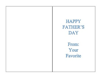Father's Day Month Activity