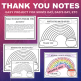 Father's Day & Mother's Day Activity - Thank you picture letter