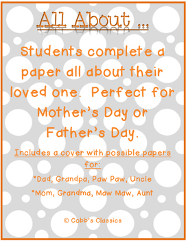 Father's Day/Mother's Day/Grandparent's Day Activity