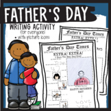 Father's Day Newspaper Writing Activity- Grandfathers Incl