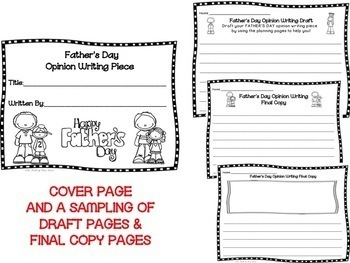 Father's Day Opinion Writing Piece--Persuasive-Writing Pack--Common Core Aligned