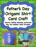 Father's Day Origami Shirt Craft and Card