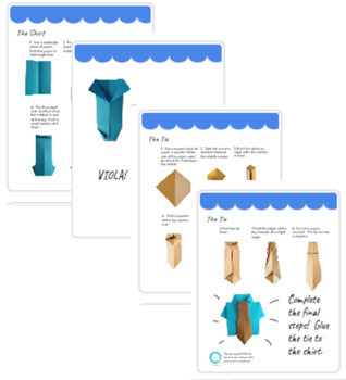 Howto make a paper tie for Father's Day:) Put it as decoration on ... | 350x318