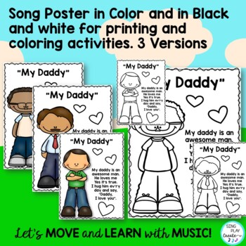"""Father's Day Original Song """"My Daddy"""" Card Activity, Mp3"""