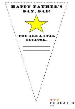 Father's Day Pennant (Freebie - no prep)
