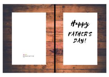 Father's Day Card (Freebie - no prep)
