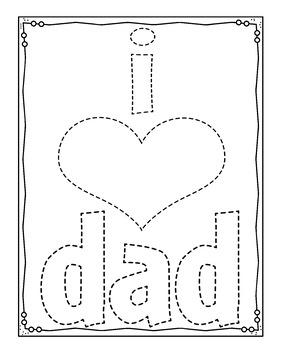 Father's Day Preschool Interactive Activities