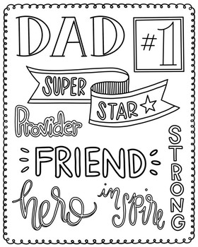 Father's Day Print/Coloring page