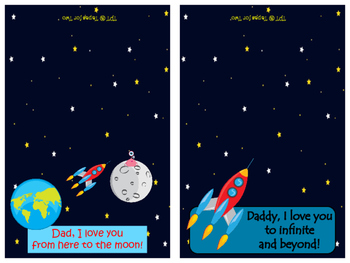 Father's Day ~ Print and fold cards