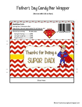 Father's Day Printable Candy Bar Wrappers