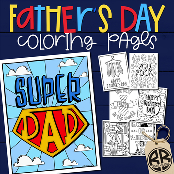 Father's Day Printable Card & Coloring Pages