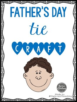 Father's Day Printable Tie Crafts