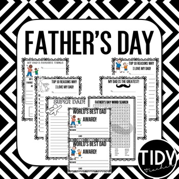 Father's Day Literacy Printable Sheets for Second-Fifth Graders!