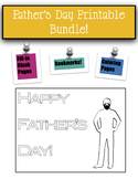 Father's Day Printables -- Bookmarks, Coloring Pages, and
