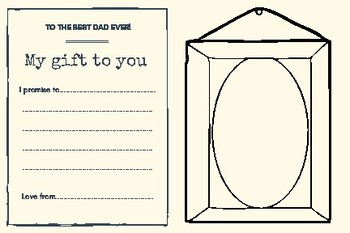 Father's Day Promise Gift Certificate