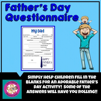 graphic regarding Father's Day Questionnaire Printable identify Fathers Working day Study Worksheets Education Materials TpT