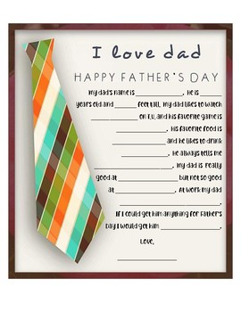 Father's Day Questionnaire