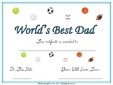 Father's Day Questionnaire/Booklet/Certificate
