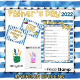 Father's Day Questionnaire, Photo Prop, Card with AMERICAN