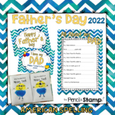 Father's Day Questionnaire, Photo Prop, Card with AMERICAN SPELLING- MINI BUNDLE