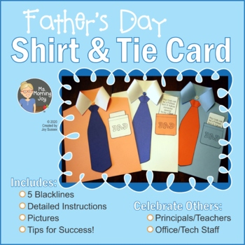 Father's Day Shirt and Tie Card Art Project