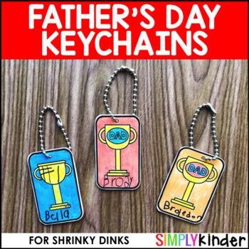 Father's Day Shrinky Dink Keychain